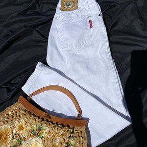 For Joseph White High Cut Vintage Jeans Size 27